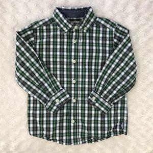 OshKosh B'Gosh Plaid Button Down Shirt Size 4